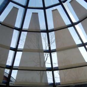 motorlu üçgen tavan perdesi